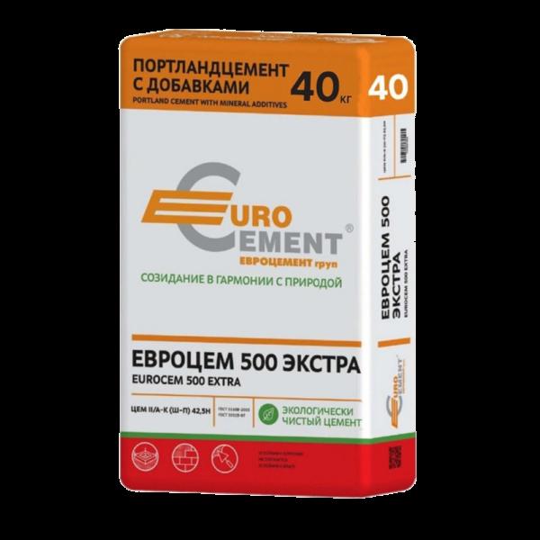 Евроцемент ПЦ500 Д20 40кг купить в казани